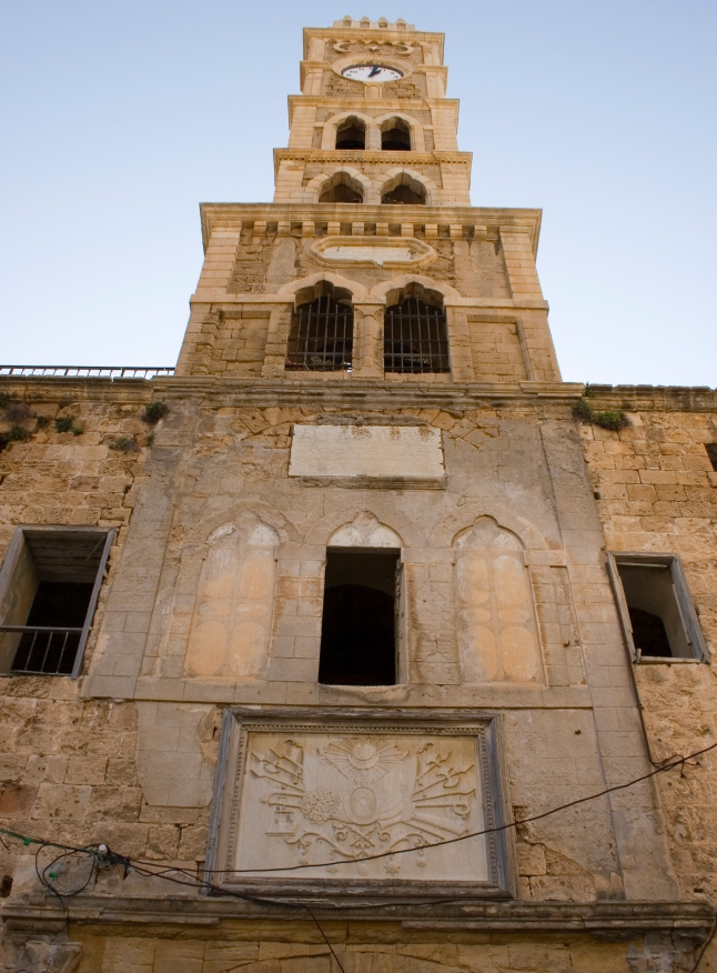 Acre_(Akko)_-_Han_El_Umdan_clock_tower
