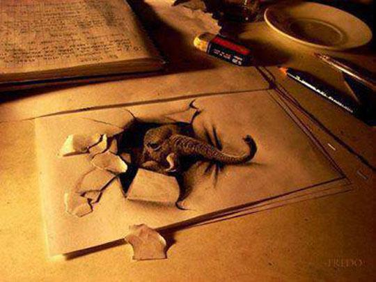 رسم-ثلاثي-الابعاد-بالرصاص