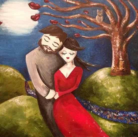 Chloe-Mayo-painting-550x547